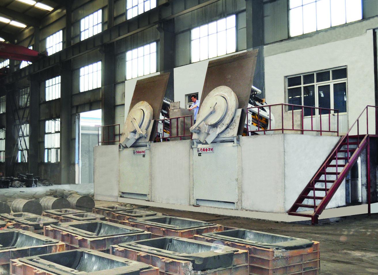3吨中频双联环保电炉